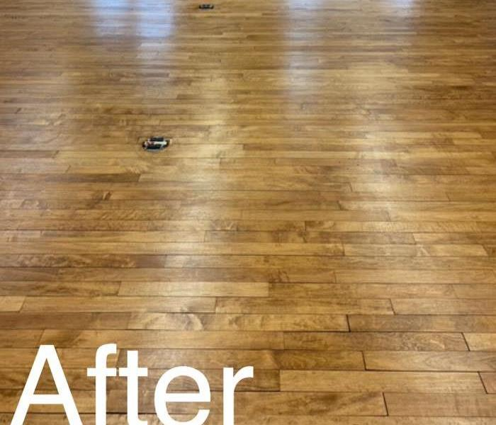 Wood after the water midication and refurbishing the floors